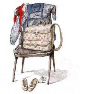 Ilustración de Irina Dobrescu. Todo a punto, mañana empieza el cole.