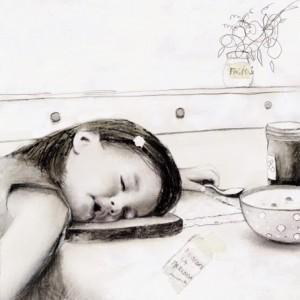 Ilustración de Sonia Maria Luce Possentini. Las primeros madrugones cuestan.