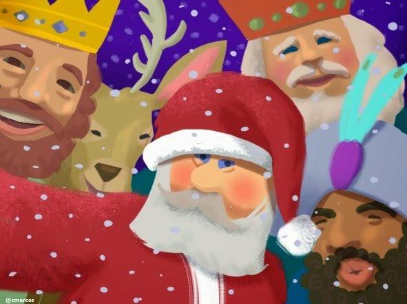 Fotos Papa Noel Reyes Magos.Historia De Los Reyes Magos Para Los Ninos Manten La
