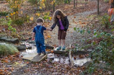 Cruzar el arroyo con una mano amiga