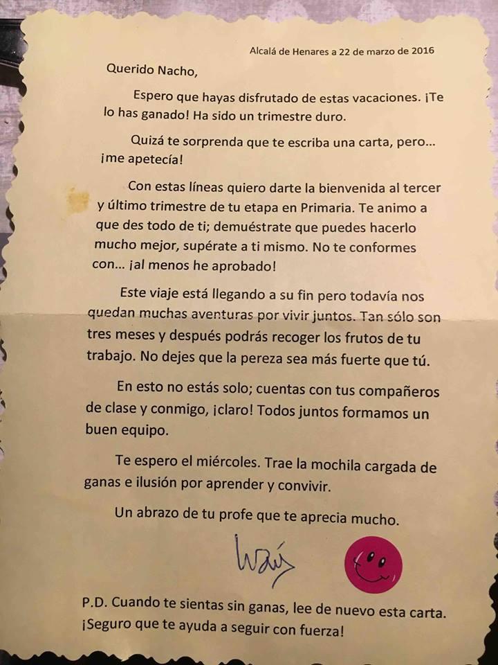 carta profesor