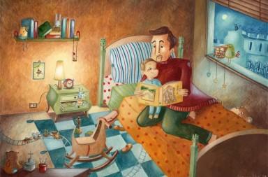 Mi papá me cuenta cuentos… todas las noches (ilustración de Arianna Usai)