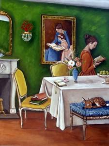Sin duda alguna, en esta casa se lee (ilustración de Catherine Nolin)