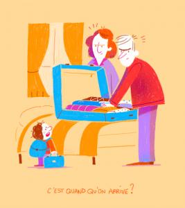 VACACIONES EN FAMILIA. Ilustración de Océane Meklemberg