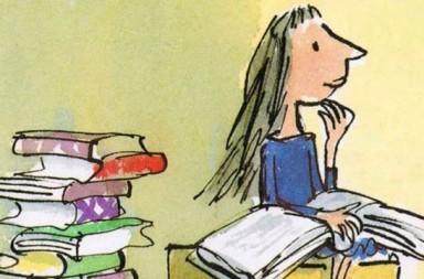 Roald Dahl. Ilustración de Quentin Blake para la historia de Matilda