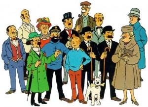 475 Hergé Personajes de los libros de Tintín