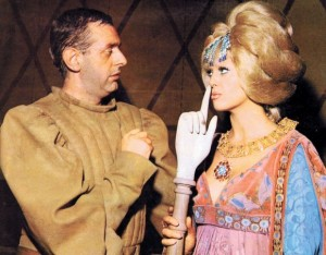 Dario Fo con su esposa Franca Rame, en los años setenta.