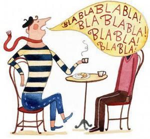 487 talento para el diálogo. Ilustración de Janice Nadeau