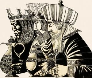 Reyes Magos. Ilustración de Richard Hook