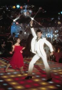John Travolta y Karen Lynn Gorney en Fiebre del sábado noche (1977)
