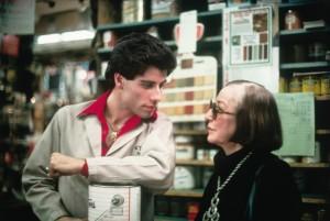 John Travolta y su madre, Helen Travolta, en Fiebre del sábado noche (1977)