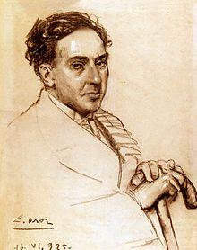 Antonio Machado por Leandro Oroz (1925)