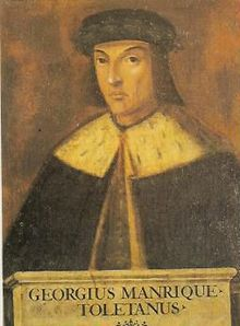 Retrato de Jorge Manrique por Juan de Borgoña