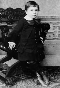 Einstein a los 3 años, en 1882.