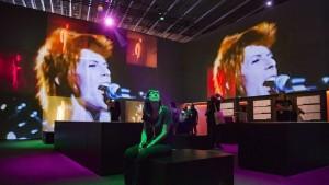 Una de las salas de 'David Bowie is' en el Museu del Disseny de Barcelona / Foto: Francesc Melcion