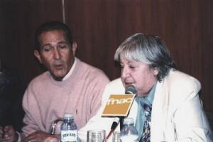 Gloria, con Antonio Gala.
