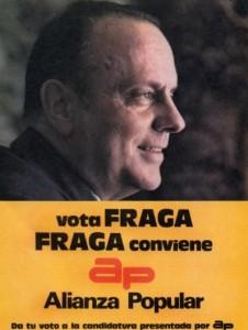 1977, Manuel Fraga fue el candidato de Alianza Popular