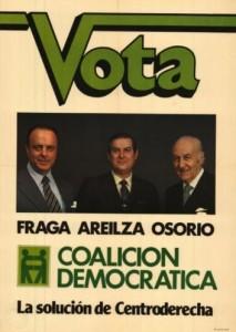 Manuel Fraga se presentó bajo las siglas CD, Coalición Democrática, en las elecciones de 1979.