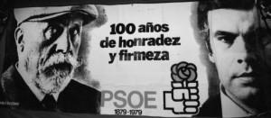 Pablo Iglesias y Felipe González en un cartel de 1979.