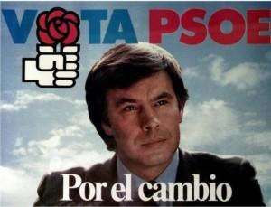 En 1982 Felipe González se presentaría con este eslogan. El líder del PSOE consiguió la mayoría absoluta, 202 de los 350 escaños.