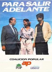 El cartel electoral de Alianza Popular en 1986.