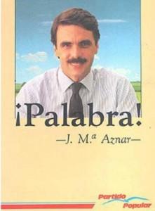 En 1989 un joven José María Aznar fue el candidato del nuevo Partido Popular. El 4 de septiembre de 1989, José María Aznar, entonces presidente de la Junta de Castilla y León, fue elegido candidato a las elecciones generales, a propuesta del propio Fraga, exlíder de Alianza Popular.