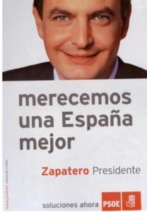 José Luis Rodríguez Zapatero ganó las elecciones de 2004.