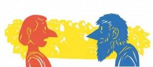 Ilustración de Vincent Sorel para el libro 'El filósofo-perro frente al sabio Platón'
