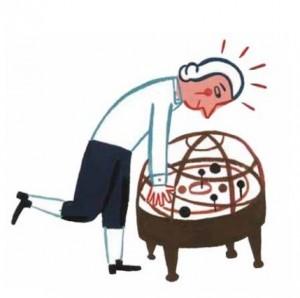 Ilustración de Laurent Moreau para el libro 'Un día loco en la vida del profesor Kant'