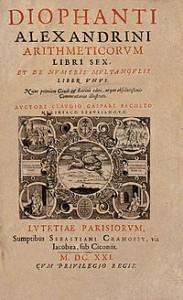Portada de la obra de Diofanto, Arithmetica.