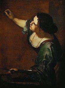 ARTEMISIA GENTILESCHI ● Pintora (autorretrato)