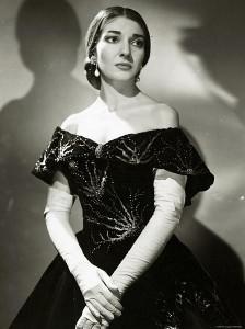Foto publicitaria de Maria Callas como Violetta en La Traviata, en el Royal Opera House (1958). Fotografía Houston Rogers