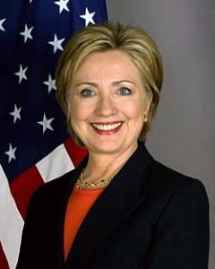 Hillary Clinton en su fotografía oficial como Secretaria de Estado de los Estados Unidos