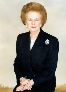 "Margaret Thatcher, la ""Dama de Hierro""."