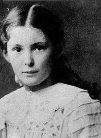 Maria Reiche a la edad de siete años.