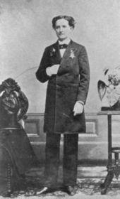 Mary Walker, hacia 1870. Con frecuencia vestía con ropa masculina, y en varias ocasiones fue detenida por hacerse pasar por hombre.