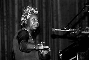 NINA SIMONE ● Cantante. Imagen de 1982