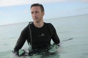Philippe Cousteau Jr. en la Gran Barrera de Coral