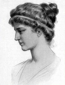 Dibujo de Hypatia de Alejandría
