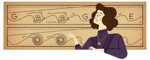 Doodle de Google con motivo del 162 aniversario del nacimiento de Hertha Ayrton