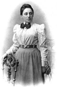 Emmy Noether, matemática alemana de ascendencia judía.