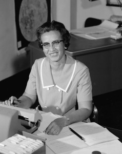 Katherine Johnson en la NASA en 1966.
