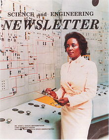 Portada del boletín de Science and Engineering con Annie Easley en el Lewis Research Centre