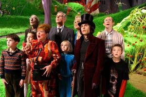 Autoestima en niños. Fotograma de la película Charlie y la fábrica de chocolate (2005).