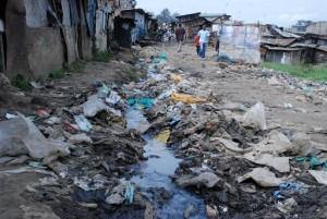 Barrio marginal de Mathare en Nairobi. © ONU-Hábitat