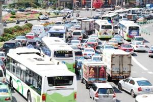 Tráfico en Shanghai. © ONU-Hábitat