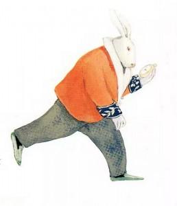 Ilustración de Lisbeth Zwerger en el libro Alice in Wonderland