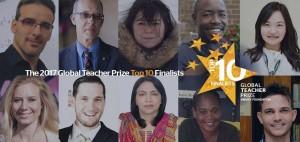 Los 10 docentes finalistas al Global Teacher Prize 2017 que aspiraban al premio de un millón de dólares y el reconocimiento de todo el mundo, entre los que se encontraba David Calle.