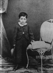 Gustav Mahler, a los seis años.