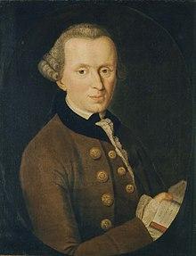 Immanuel Kant (22 de abril de 1724 - 12 de febrero de 1804) fue un filósofo prusiano de la Ilustración. Fue el primero y más importante representante del criticismo y precursor del idealismo alemán. Es considerado como uno de los pensadores más influyentes de la Europa moderna y de la filosofía universal. Además se trata del último pensador de la modernidad, anterior a la filosofía contemporánea que comienza con el pensador Hegel.